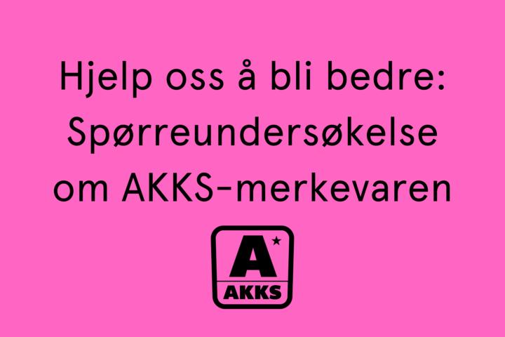 Spørreundersøkelse om AKKS-merkevaren – Vinn gavekort
